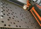 Лазер в работе. Раскраивается сталь 10мм, лист габаритом 1,5х3м