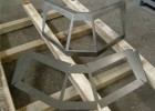 Развёртка и гнутое изделие из х/к стали 08КП толщиной 3мм